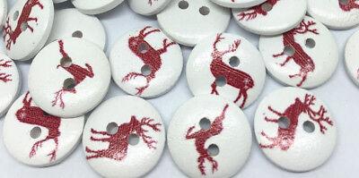 Red Deer Costumes (20 RED DEER ELK 2-hole Wood Button 5/8
