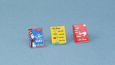 1/12 Scale Dollhouse Miniature Set of 3 Dr. Seuss Faux Books #HCX150