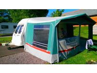 For Sale our lovely old caravan with awning Ready to go.