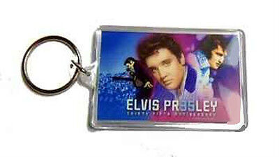 ELVIS PRESLEY 35TH ANNIVERSARY COLLAGE ACRYLIC OBLONG KEY CHAIN NEW