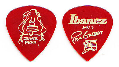 Mr. Big Paul Gilbert Signature Clear Red Ibanez Japan Teardrop Guitar Pick for sale  Shipping to United Kingdom