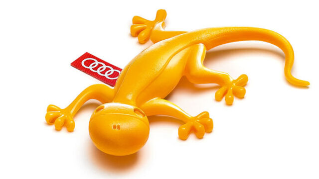 Original Audi Scented Gecko Air Freshener - Yellow - Fruity - 000087009C NEW