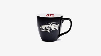Original VW Volkswagen GTI Kaffeebecher Schwarz Kaffeetasse Becher Tasse gebraucht kaufen  Nörten-Hardenberg