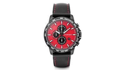 Original Audi Uhr,   Chronograph, Audi Sport, rot/schwarz