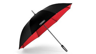 Genuine Audi Large Umbrella with reflective inserts - black / red