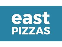 Full and part-time front of house manager and waiting staff to join East Pizzas