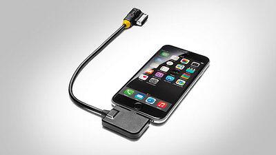 Original Audi Adapterkabel Audi music interface für iPhone 5/5S 6/ Tülle gelb Ipod Nano Interface