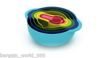 8 PCS MULTI COLOURED MIXING  SALAD BOWL SET