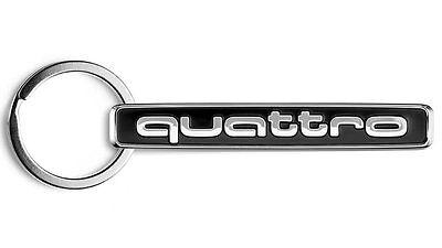 Original Audi Schlüßelanhänger quattro schwarz/silber 3181400900 -NEU-