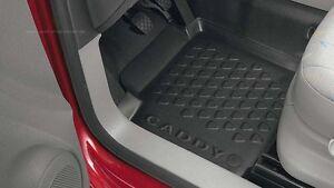Original VW Caddy Gummi Fußmatte in Schalenform, Neu, 2K106116171N