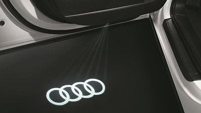 Genuine Audi LED Puddle Lights Rings Logo - 2 x projector - 4G0052133G