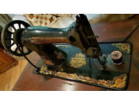Rare Beautiful Antique Singer Sewing Machine Small Table 1906