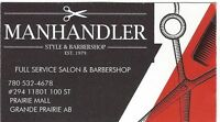 MANHANDLER BARBER SHOP FULL & PART TIME STYLIST WANTED
