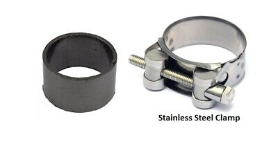 EXHAUST SEAL AND CLAMP TO SILENCER <em>YAMAHA</em> YZF 750 R 1993 1996