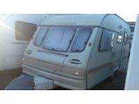 5 BERTH AVONDALE LEDA MENDIP TOURING CARAVAN **SOLD AS SPARES OR REPAIRS**