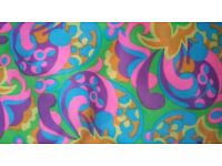 Vintage psychedelic fabric