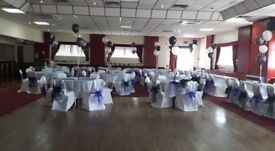 White wedding chair covers - birthday - party - hall chair covers x 100