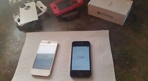 2x iPhone 4s 16gb black and white