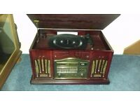 Turntable, am/fm radio with CD and cassette player = model no PA309