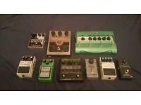 Guitars Pedals - Memory Boy, DD3, LS2, MXR Boost, Nova Reverb