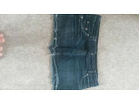 Faded Black Denim Skirt - size 10