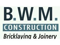 Bricklayer and labour