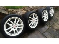 Honda alloy wheels Integra DC5 white ( not civic ep3 )