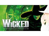 Wicked tickets leeds (great seats)