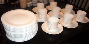 Set of Cups & Saucers and Desert Plates  Arcopal France, 32 pcs.