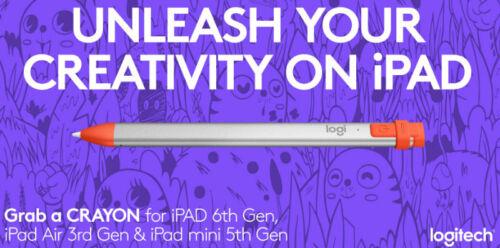 Logitech Crayon Digital Pencil for Apple iPad 2018 & later 914-000033 (Open Box)