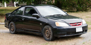 2003 Honda civic Coupe Running for parts or complete Peterborough Peterborough Area image 1
