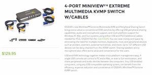KVM switch 4 port IOgear