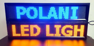 WINDOW LED PROGRAMMABLE SIGN SINGLE COLOR $99.99