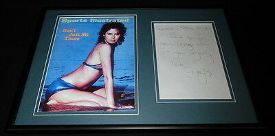 Dayle Haddon Signed Framed 12x18 Handwritten Letter & Photo Display