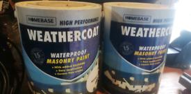 Waterproof masonry paint magnolia