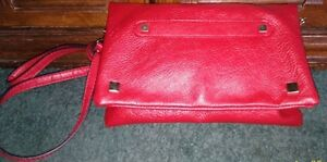 Red Faux Leather Purse/Clutch