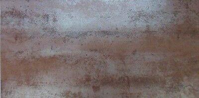 1m² of METALLIC COPPER 60x30cm PORCELAIN KITCHEN & BATHROOM WALL & FLOOR TILE