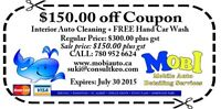 Free $150 Auto Detail Coupon - Expires July 30th