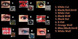 HALLOWEEN/CRAZY 90 Wear Contact Lenses-IMMEDIATE PICK UP!
