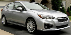 "2017 Subaru Impreza Hatchback, manual, 17"" wheel package"
