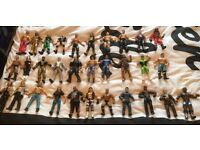 WWE wrestling figures + weapons + accessories
