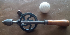 """Old Tool: Hand Drill/Brace, 9"""" in Length"""