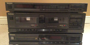 Technics disc player, cassette deck and tuner -LOT
