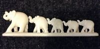 White Marble Elephants - hand crafted brand new