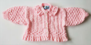 Crocheted pink sweater (6 months) BRAND NEW