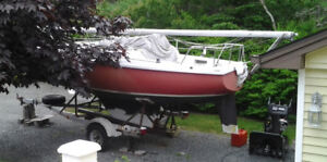 22' Edel 665 Sailboat with Trailer
