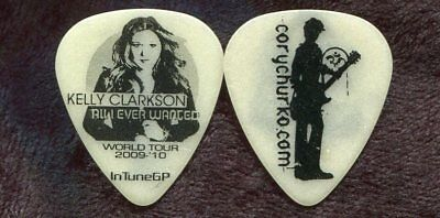 KELLY CLARKSON 2009 Wanted Tour Guitar Pick!!! CORY CHURKO custom concert stage