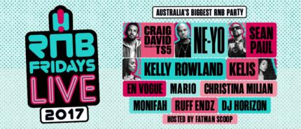 RNB Fridays Ticket for Sale - Silver Section 21 October Brisbane