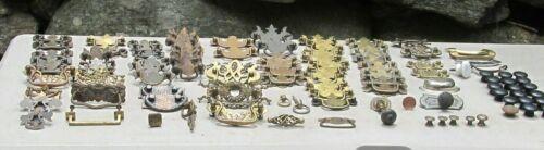 100 +  Vintage Brass Metal Wood  Drawer Pulls