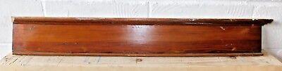 1890's Wooden Victorian DOOR PEDIMENT Lintel Header CYPRESS Crown Molding ORNATE